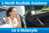6 Months Roadside Assistance Car & Motorcycle